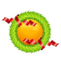 round wreath vector image