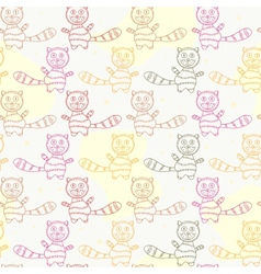 Seamless Pattern with Cat Silholuettes vector image vector image