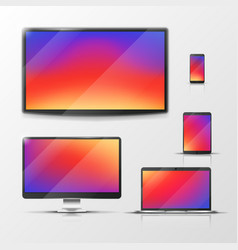 tablet and laptop mobile phone and pc vector image