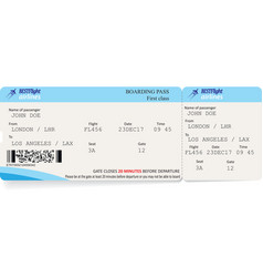 template of boarding pass tickets vector image vector image
