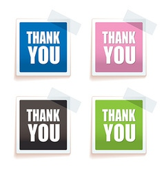 Thank you tag vector image
