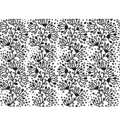 floral branches pattern vector image vector image