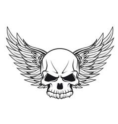 Human skull tattoo vector