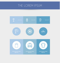 set of 9 editable business outline icons includes vector image