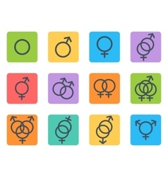Sexual orientation icons vector image vector image