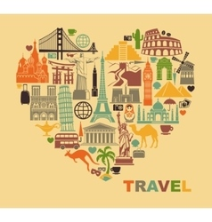 The love of travel vector image