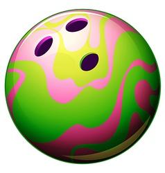 A bowling ball vector image