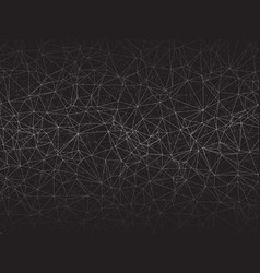 abstract geometric gray network background vector image