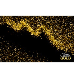 Abstract Sparkling Luminous Gold Dust Glitter vector