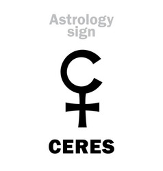 Astrology little planet ceres vector