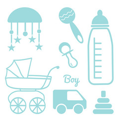 Baand newborn set for a boy vector