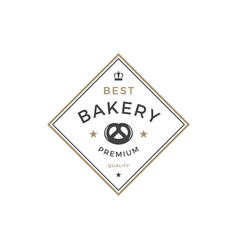 bakery shop logo template object vector image