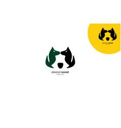 bear twin dog logo vector image