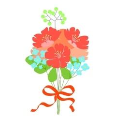 beautiful flower bouquet wedding invitation vector image
