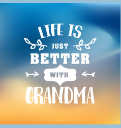 best grandma handwritten in white vector image