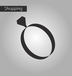 black and white style icon engagement ring vector image