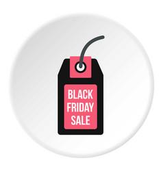 Black friday sale tag icon circle vector