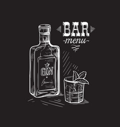 bottles for alcohol sketch vector image