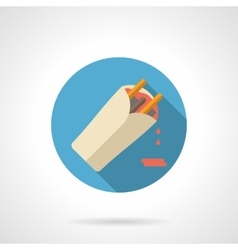 Burrito flat color design icon vector