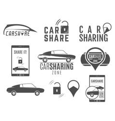 Car share logo designs set Sharing vector image