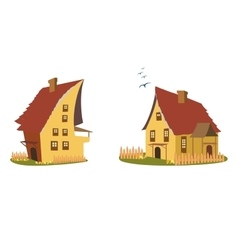 Cartoon home set vector