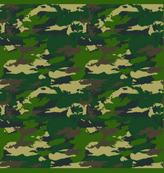 Classic seamless military forest camouflage vector