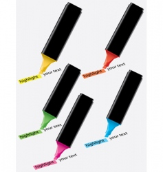 colorful highlighters vector image