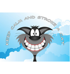comical stroke a cat message vector image