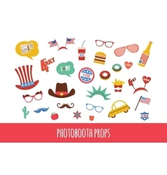 costume props for independence day america vector image