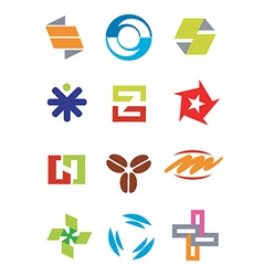 Creative design symbols icons vector image