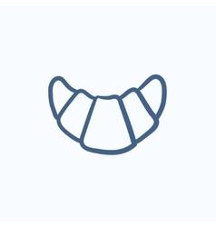 Croissant sketch icon vector image