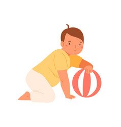 cute baplaying ball flat vector image