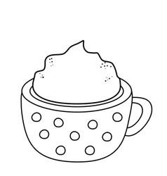delicious chocolate mug icon vector image
