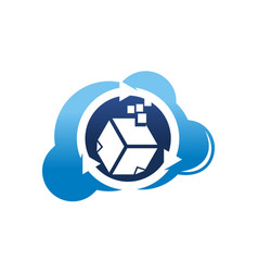 digital document cloud vector image
