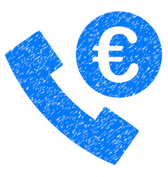 euro phone order icon grunge watermark vector image