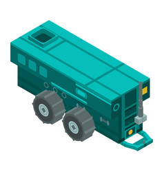 farm trailer machinery icon isometric style vector image