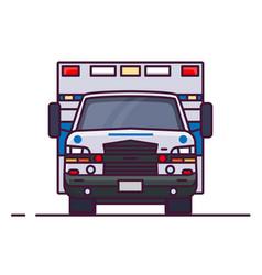 front view ambulance car vector image