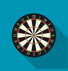 Game with darts in flat design style vector