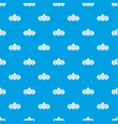 gas mask pattern seamless blue vector image