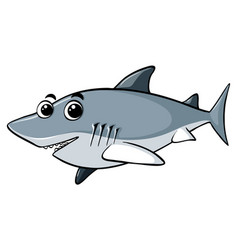 great white shark with happy face vector image