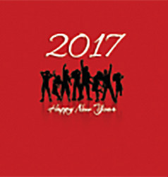 happy new year party background 1711 vector image