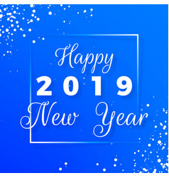 Happy new year postcard new year 2019 text vector