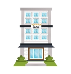 Hotel object isolated flat icon vector