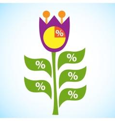 Infographic Flow Chart Flower Tulip vector image