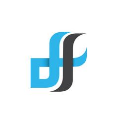 Initial letter df design logo vector