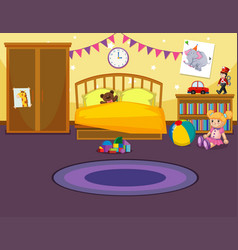 Interior of childs bedroom vector
