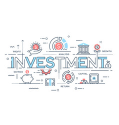 Investment strategy profit capital growth vector