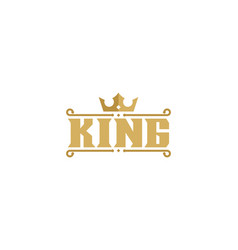 letter king logo icon design vector image