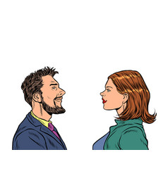 Man and woman friends vector