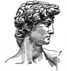 Michelangelo david sketch vector